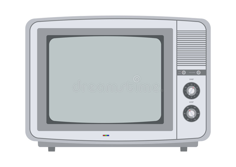 Retro Tv From The 1970s Stock Image