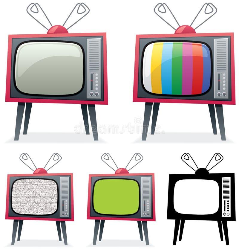 Download Retro TV stock vector. Image of fashioned, black, television - 20934207