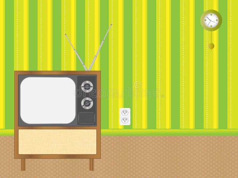 retro tv vektor illustrationer