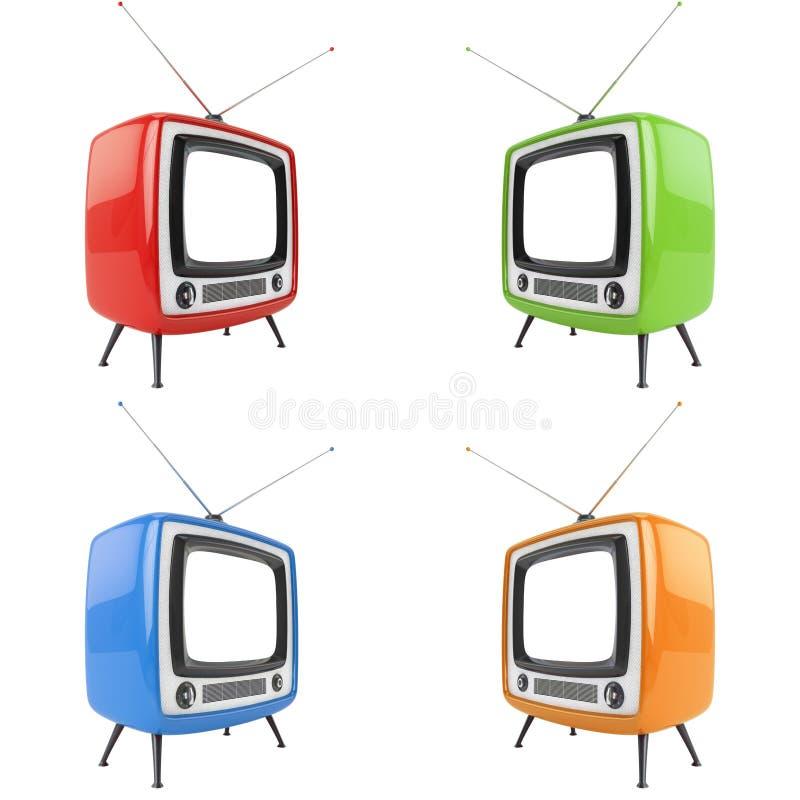 Download Retro tv stock illustration. Image of white, news, vintage - 25903016