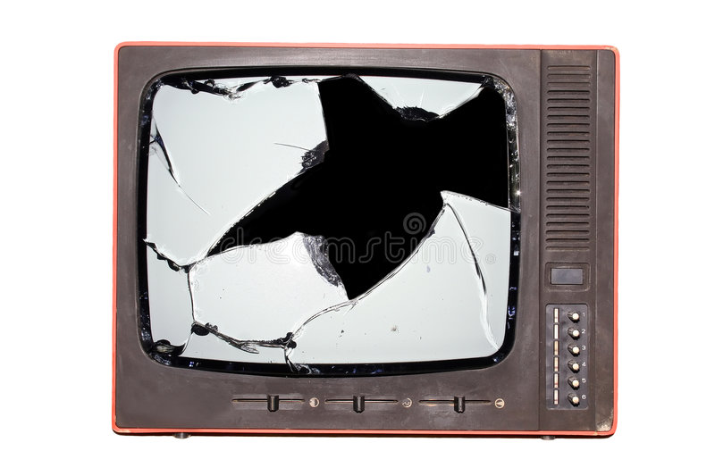 Download Retro tv stock photo. Image of clipped, dump, mirror, brown - 3431724