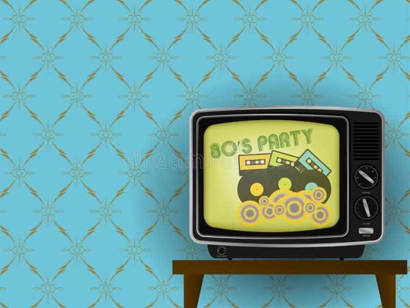 Retro TV royalty-vrije illustratie