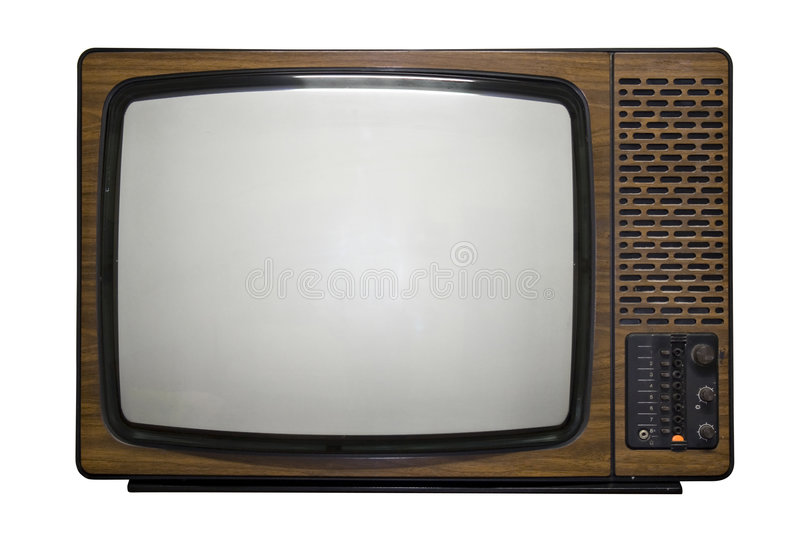 retro tv royaltyfri bild