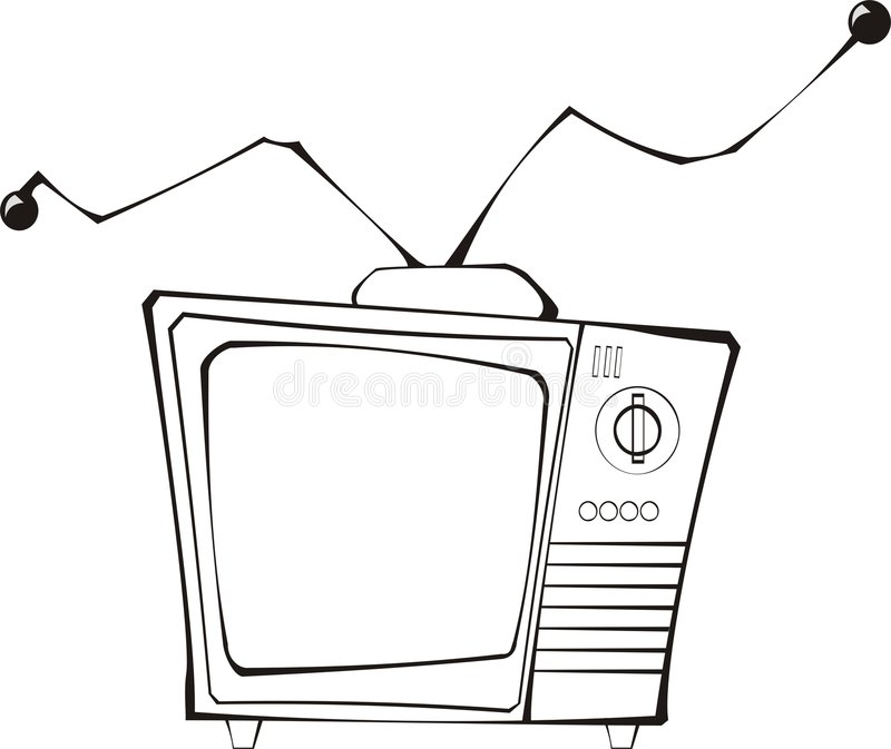 Retro tv vector illustration