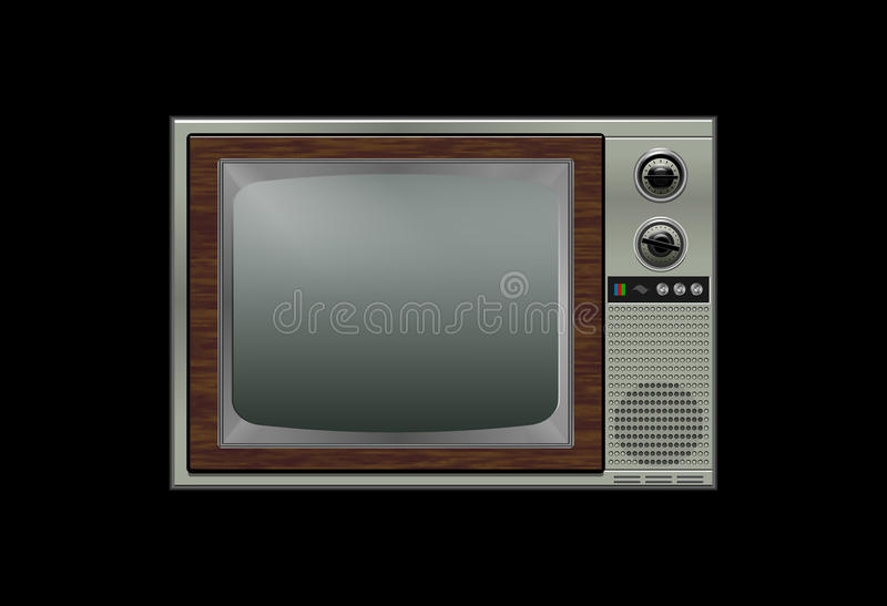 retro tv obraz stock