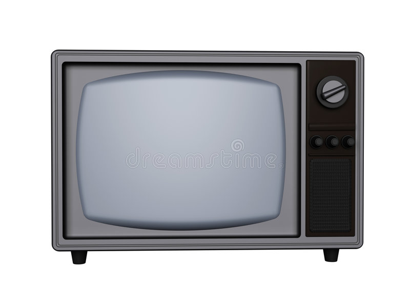 retro tv royaltyfri illustrationer