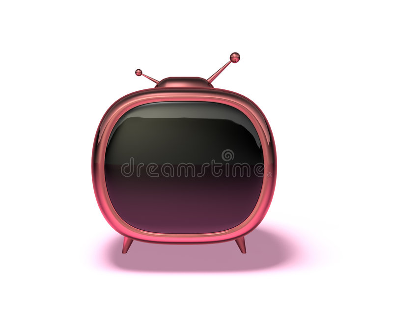 Download Retro tv stock illustrationer. Illustration av strömkretsar - 977179