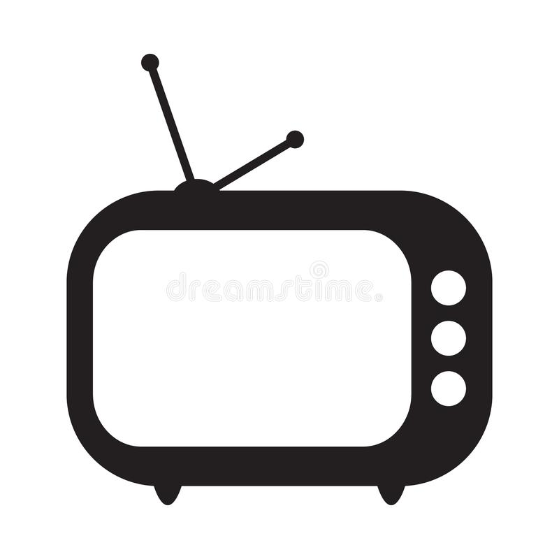 Retro TV icon royalty free illustration