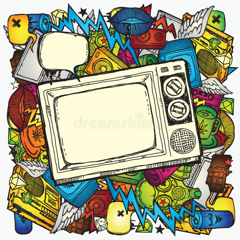 Download Retro TV Background stock illustration. Image of backdrop - 24274483