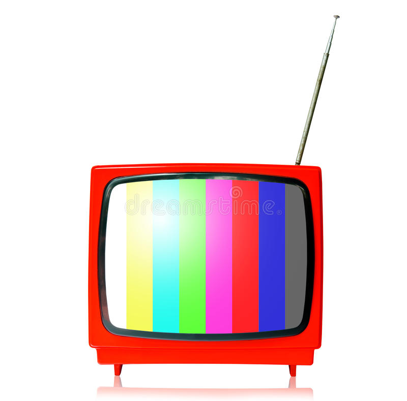 Retro TV with color frame royalty free stock images