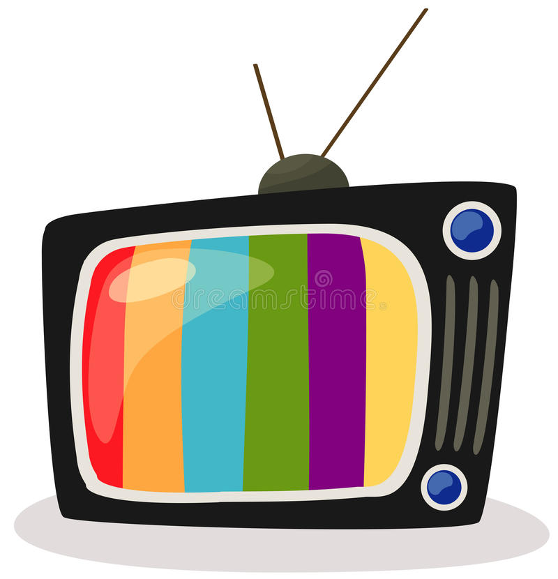 Retro Tv With Colour Screen Stock Vector - Illustration of ...