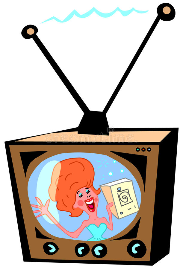 Download Retro TV Commercial stock illustration. Illustration of presenter - 20966474