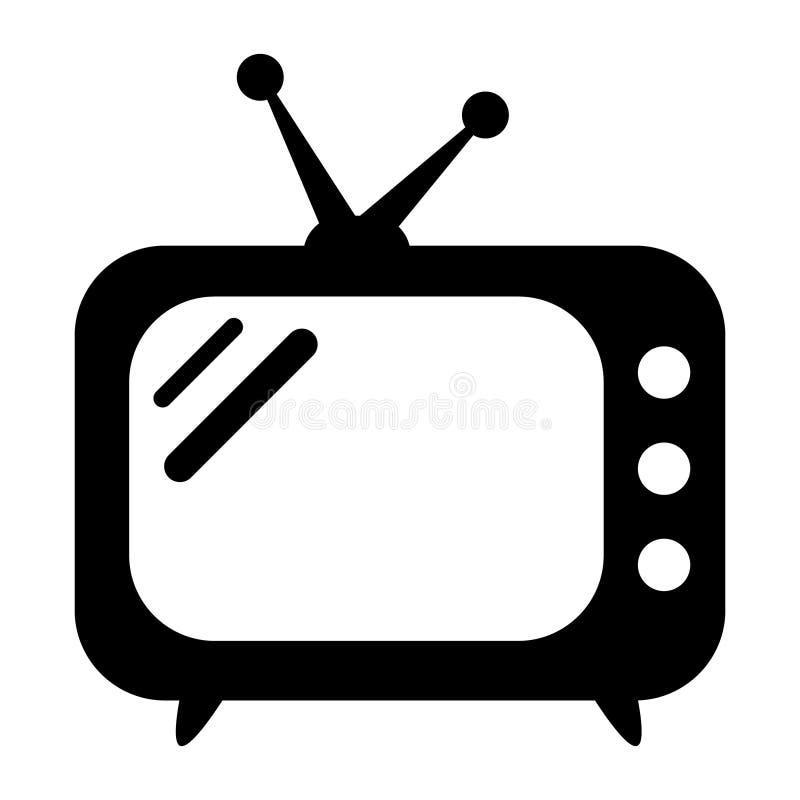 retro tv för symbol royaltyfri illustrationer