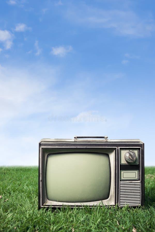 Retro Tv on grass