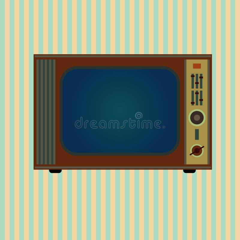 Retro TV. On grunge background vector illustration