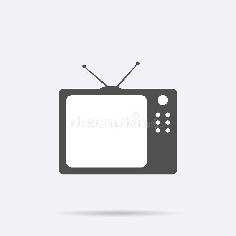 Retro TV icon isolated on background. Modern flat television pictogram, business, marketing, interne vector illustration