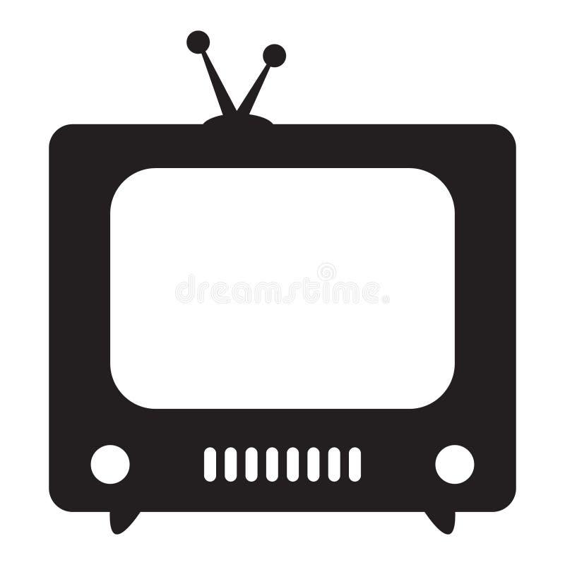 Retro TV icon. Vector illustration stock illustration