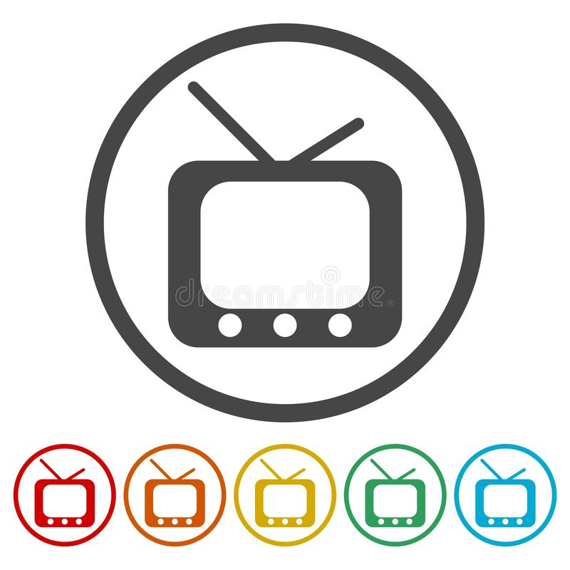 Retro tv icons set. Vector icon vector illustration