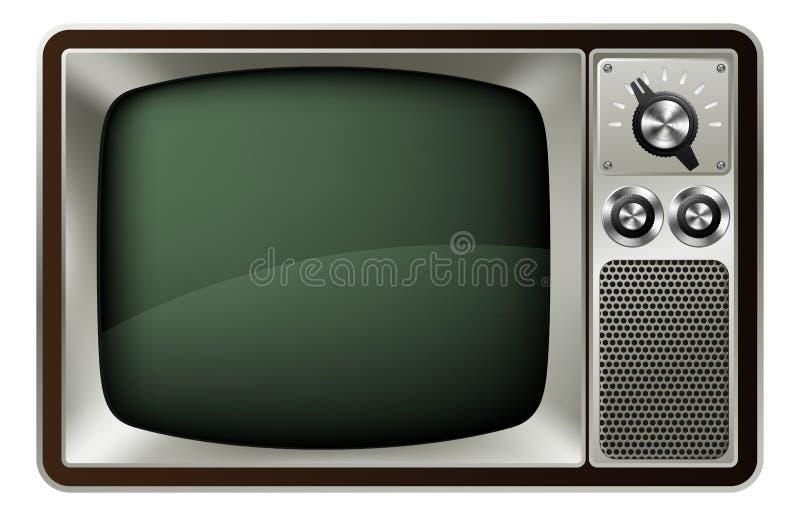 Download Retro TV Illustration stock vector. Image of news, knob - 25445250
