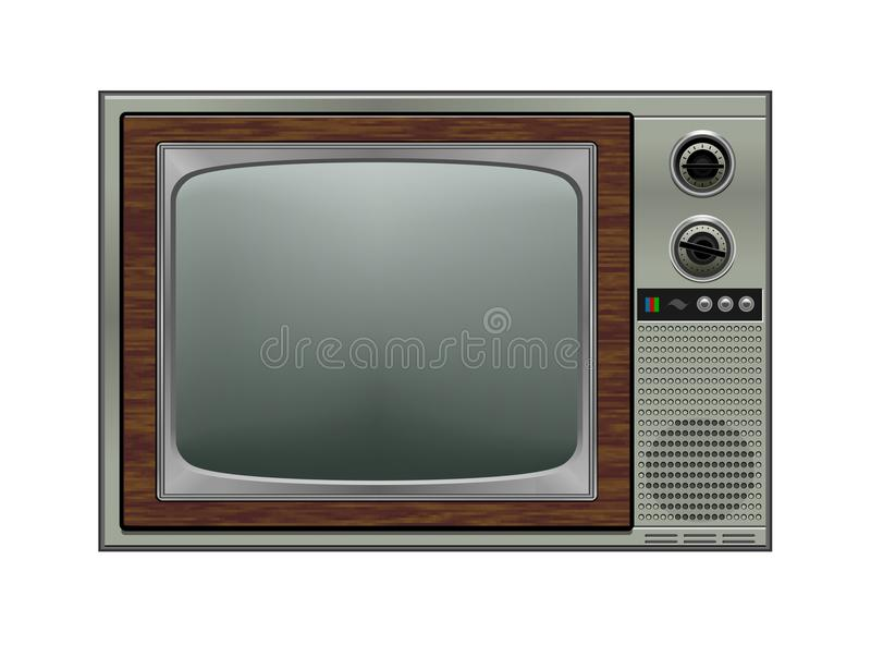 Retro tv, ilustracja royalty ilustracja