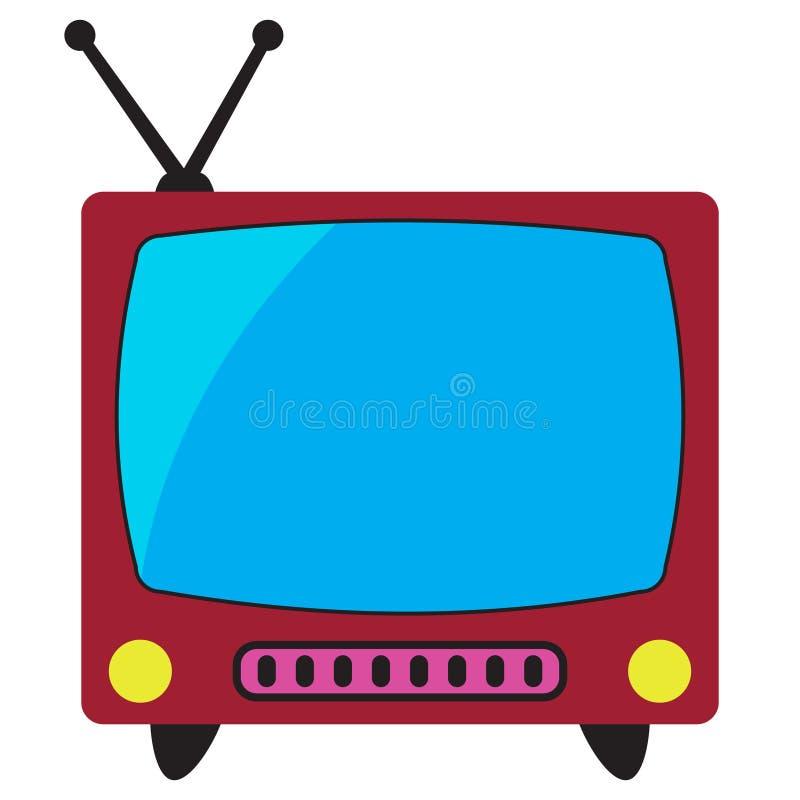 Retro tv mieszkania ikona royalty ilustracja