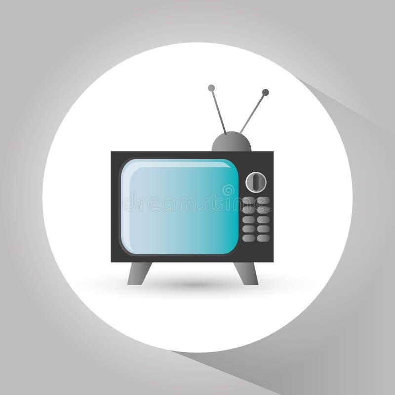 Retro tv- och videodesign royaltyfri illustrationer