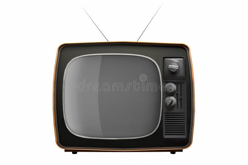 Retro TV odizolowywaj?cy na bia?ym tle ilustracja 3 d ilustracji