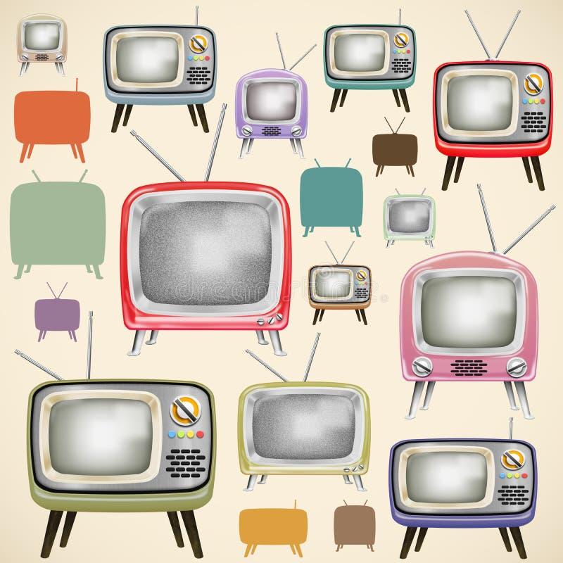 Download Retro TV pattern stock illustration. Image of furniture - 24601876