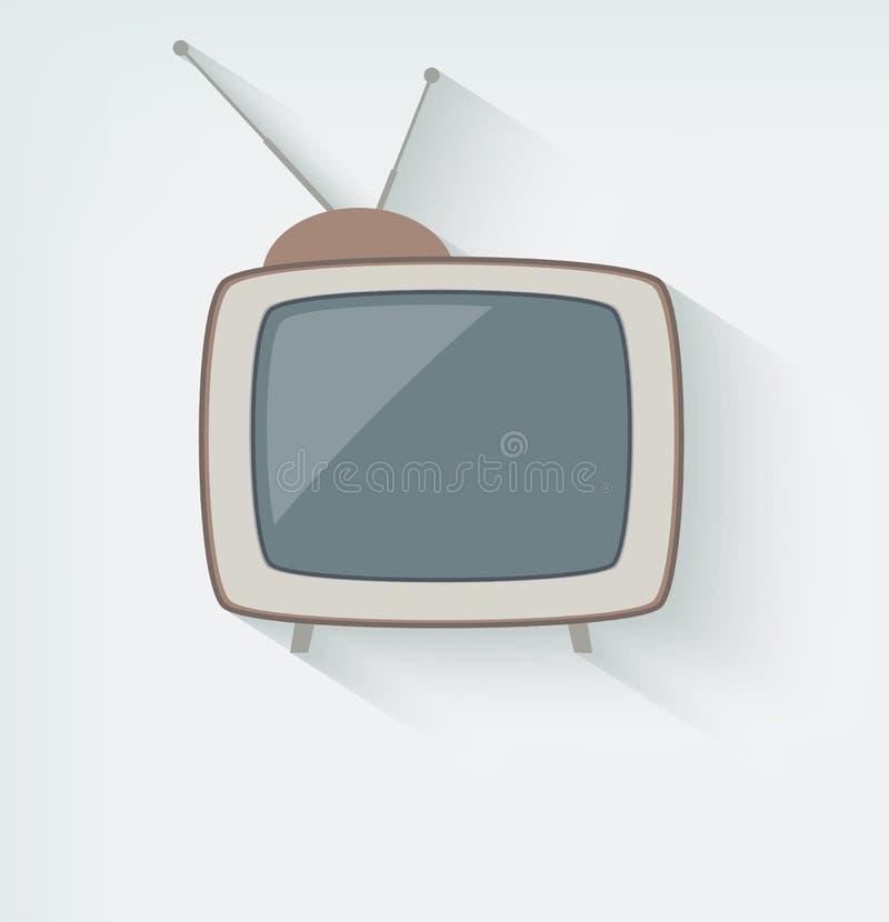Retro TV-pictogram stock illustratie