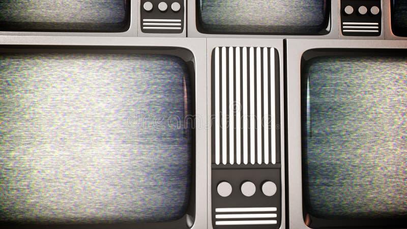 Retro tv screens with static. vector illustration