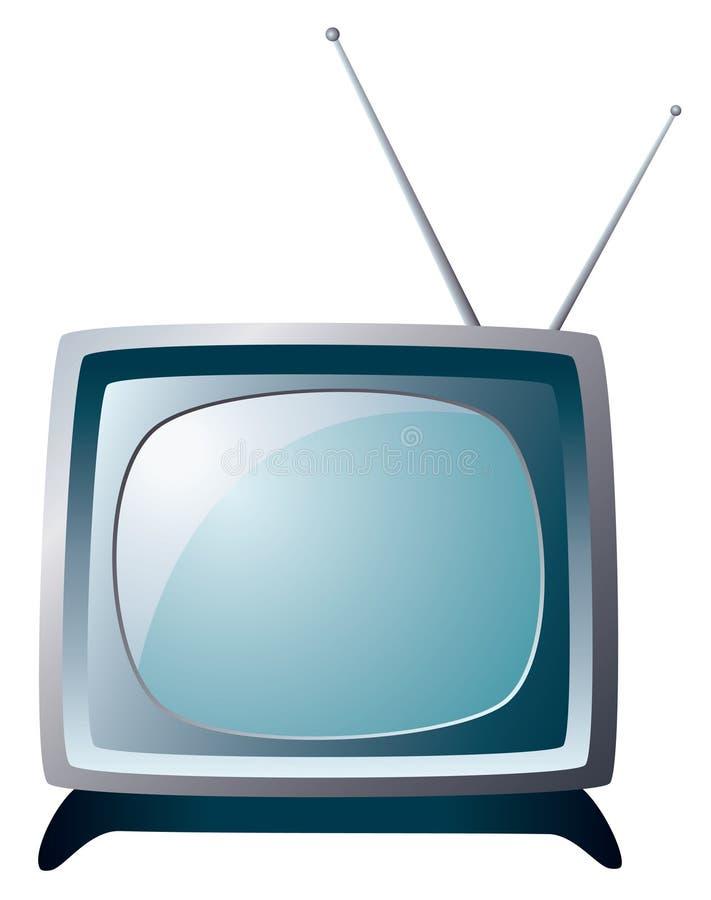 Retro tv set. Vector illustration of gray retro tv set stock illustration
