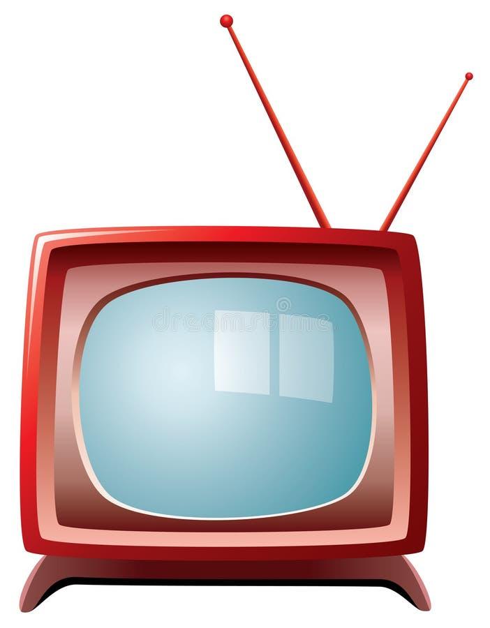 Retro tv set. With blue screen vector illustration