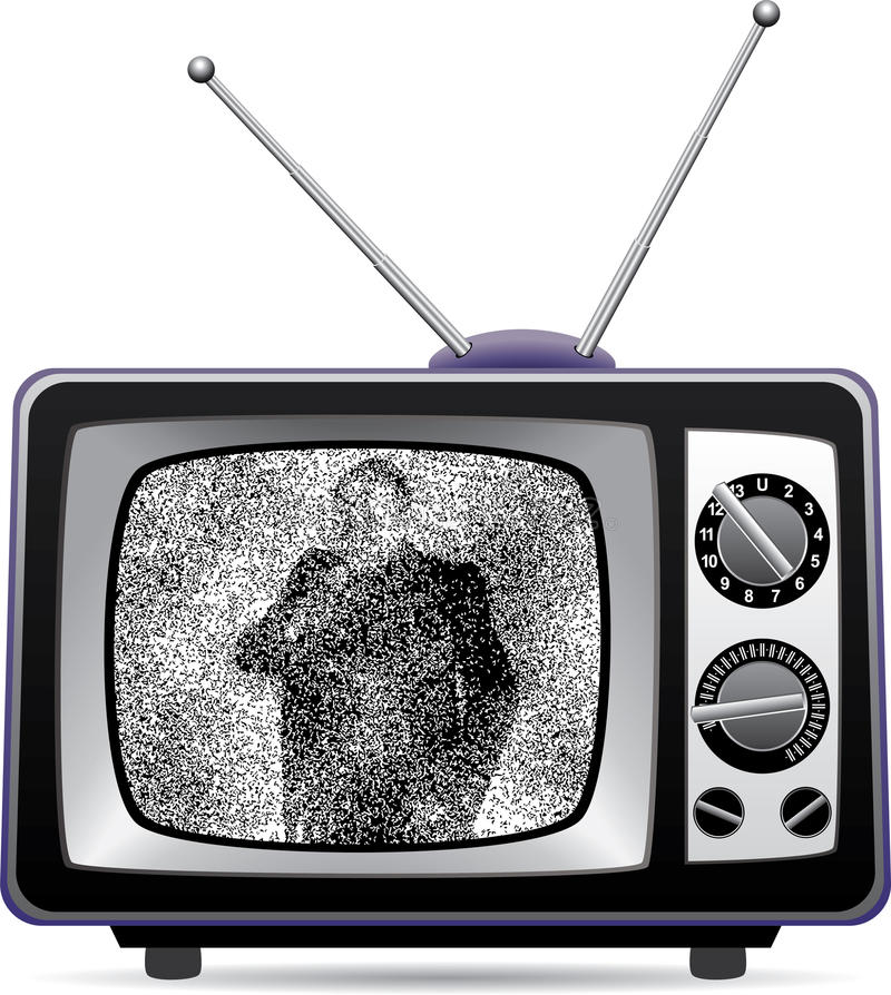 Retro TV With Static. Stock Illustration. Illustration Of