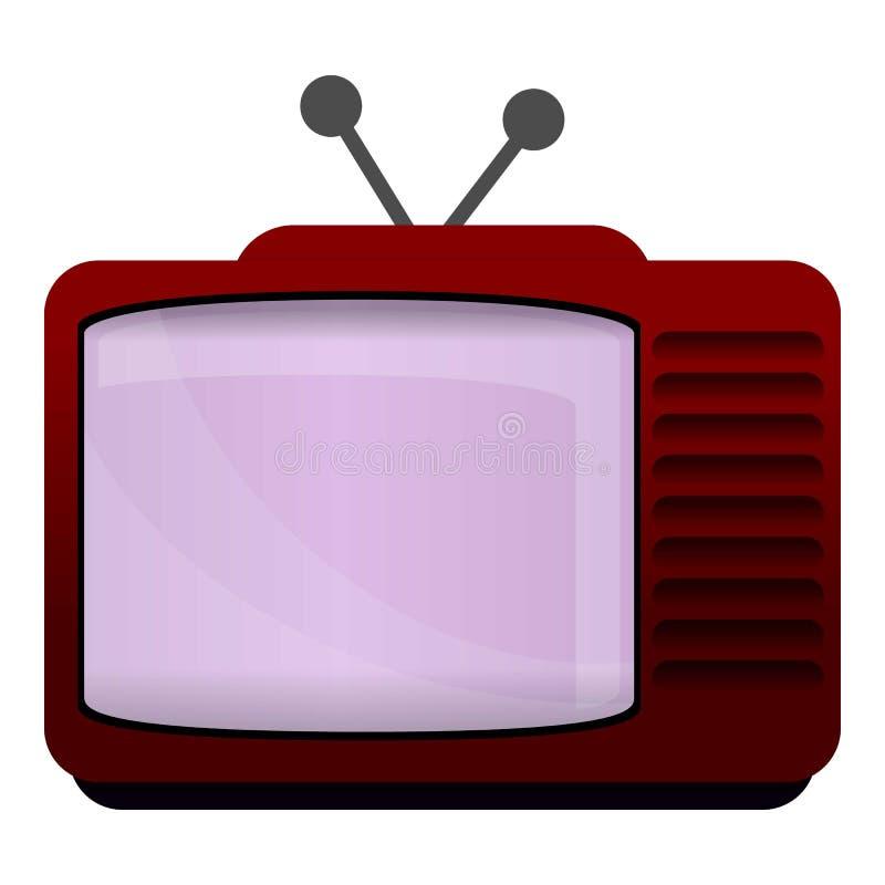 Retro tv set icon, cartoon style. Retro tv set icon. Cartoon of retro tv set vector icon for web design isolated on white background royalty free illustration