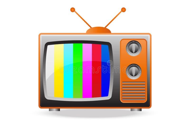 Retro TV Set Icon. Vector illustration of retro tv set royalty free illustration