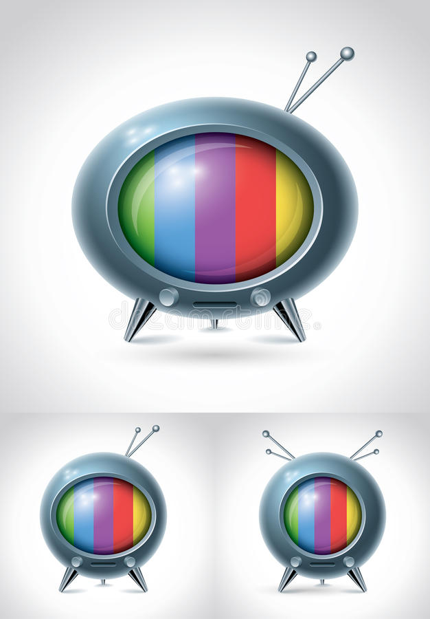 Retro TV set. Vector character design vector illustration