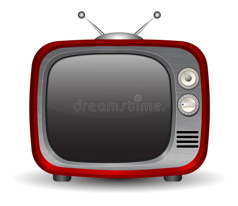 Retro TV set. Vector illustration stock illustration