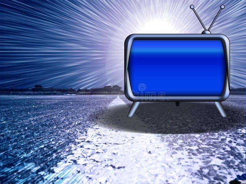 Download Retro TV su terra illustrazione di stock. Illustrazione di media - 3890411