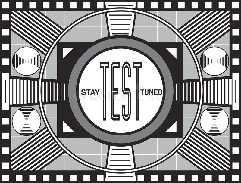 Download Retro TV Test Pattern stock illustration. Illustration of image - 14395530