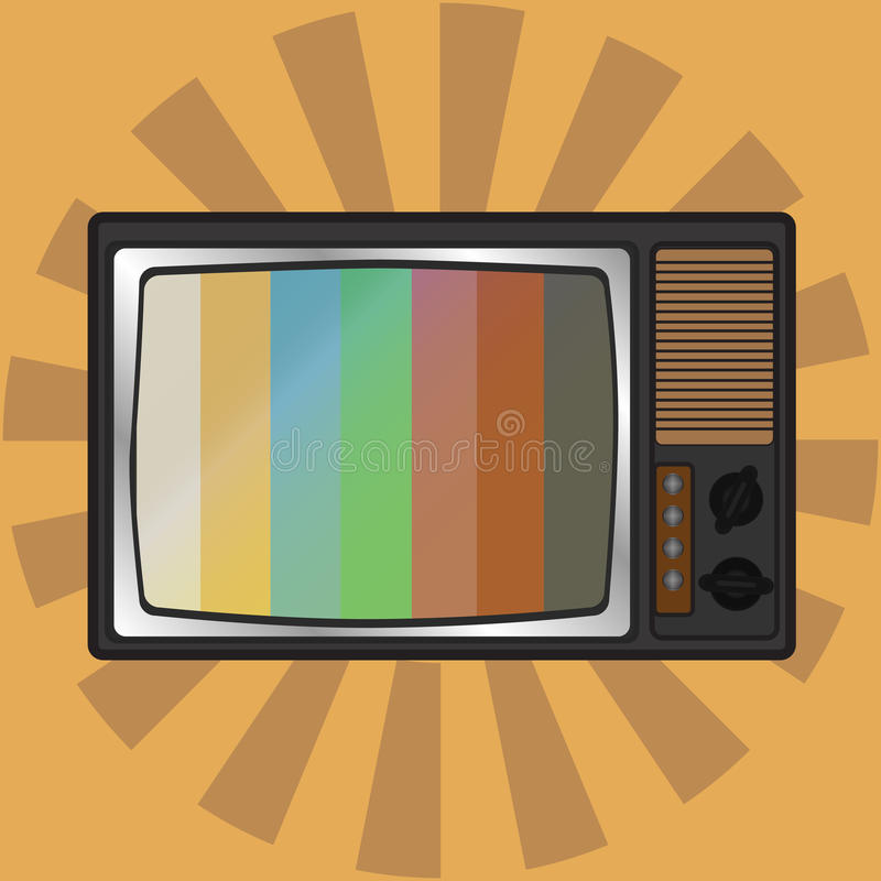Retro TV. Vector illustration. vector illustration