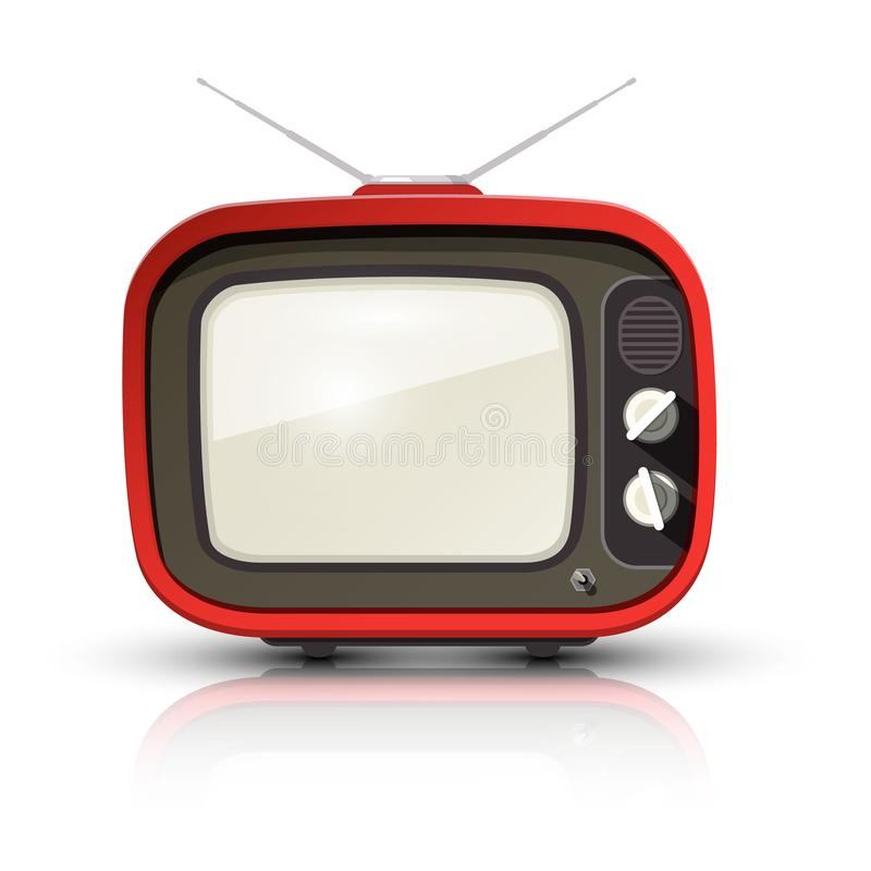 Retro TV Vector Uitstekende Realistische Televisie vector illustratie