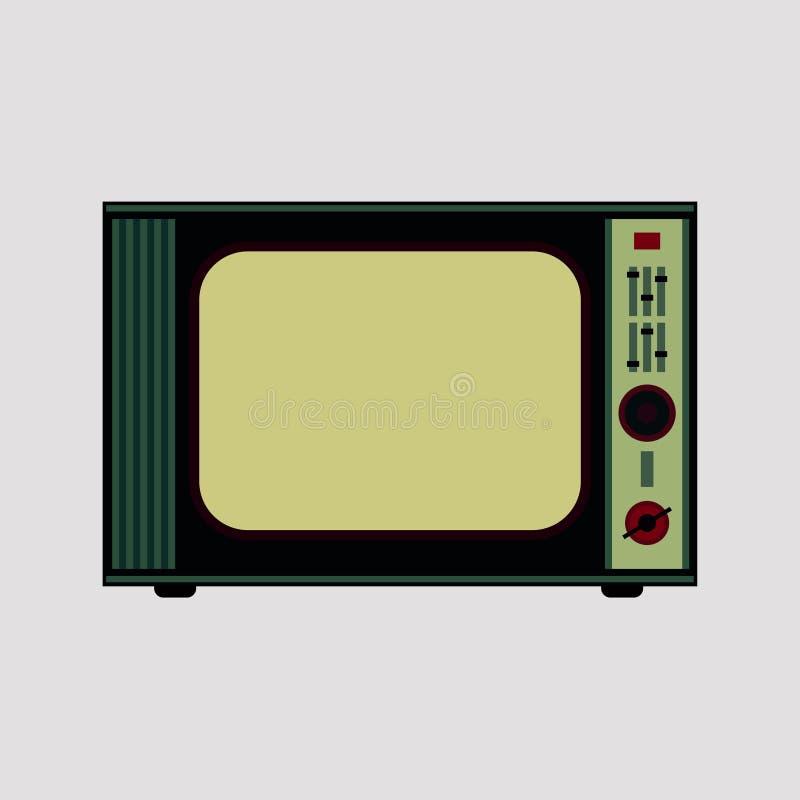 Retro TV. On white background royalty free illustration