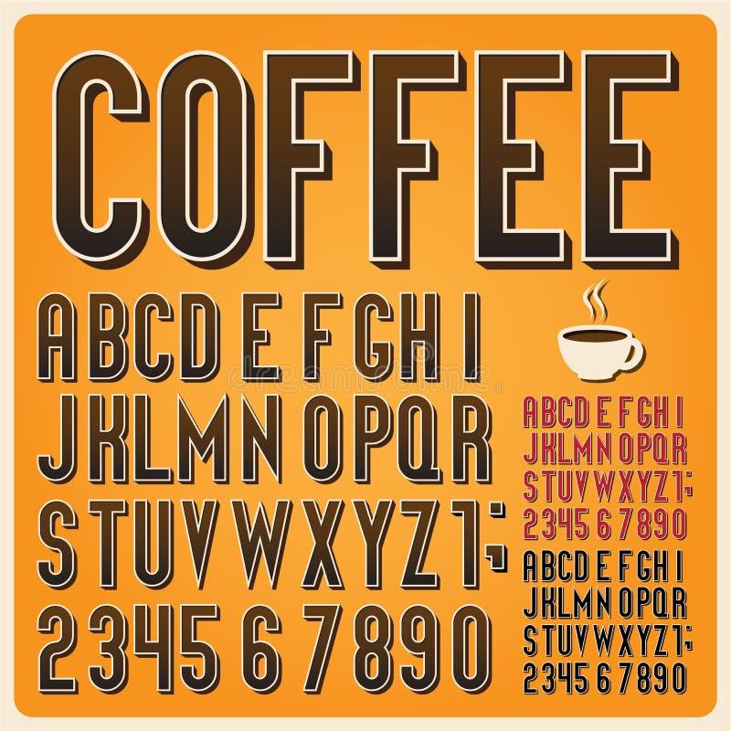 Retro typ chrzcielnica, rocznik typografia. ilustracja wektor