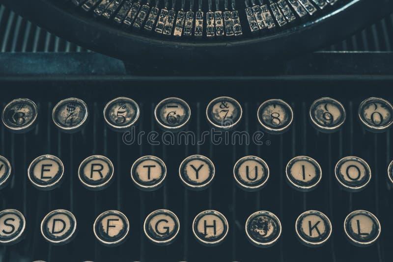Retro Typewriter Closeup stock photos