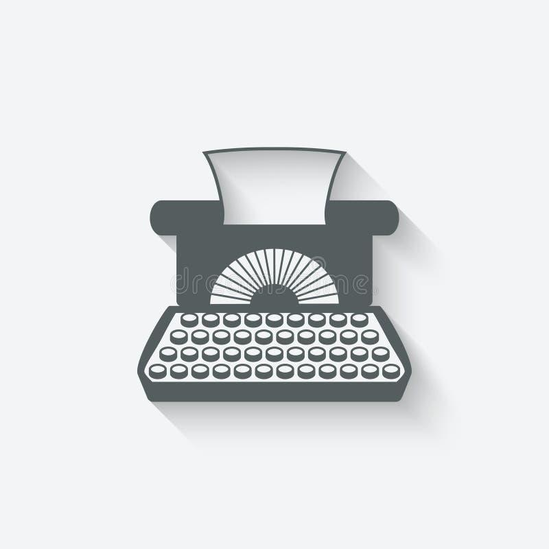 Retro typewriter design element vector illustration