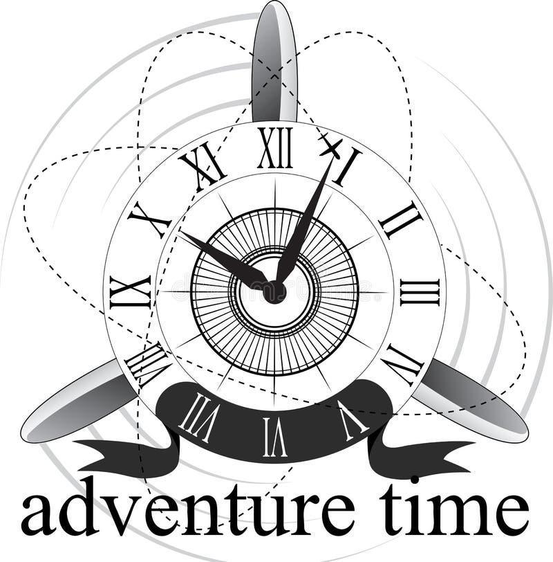 Retro- Uhr mit Roman Dial lizenzfreie abbildung