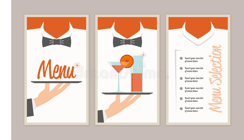 Retro uitstekend menu vector illustratie
