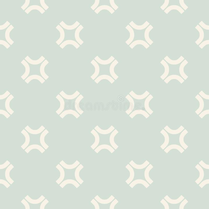 Retro uitstekend naadloos patroon met eenvoudige geometrische vormen, rond gemaakte kruisen royalty-vrije illustratie