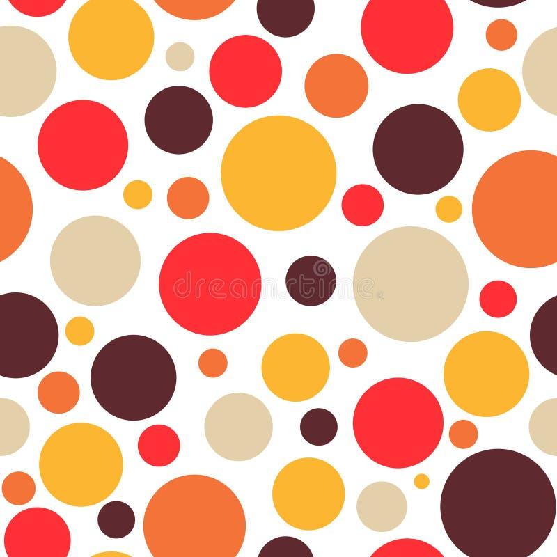 Retro uitstekende abstracte naadloze hete heldere kleuren als achtergrond royalty-vrije illustratie