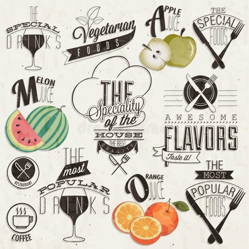 Retro uitstekende het menuontwerpen van het stijlrestaurant. royalty-vrije illustratie